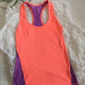 Athleta purple and orange Racerback tank top XXS